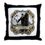 Bowhunter Archery logo Throw Pillow