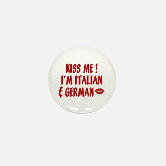 Kiss Me: German & Italian Mini Button