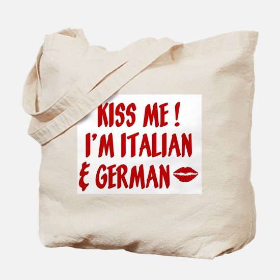 Kiss Me: German & Italian Tote Bag