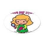 FunnyNewfuturehairstylist copy.png Oval Car Magnet