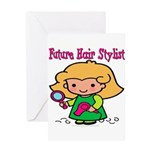 FunnyNewfuturehairstylist copy.png Greeting Card