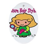FunnyNewfuturehairstylist copy.png Ornament (Oval)