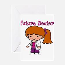 FunnyNewfuturedoctorgirl copy.png Greeting Card