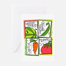Garden Veggies Greeting Cards (Pk of 10)