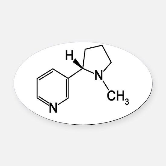 Nicotine Chemistry funny geek design light Oval Ca
