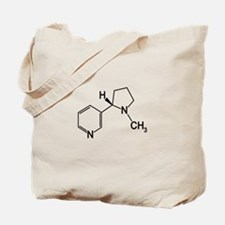 Nicotine Chemistry funny geek design light Tote Ba