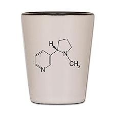 Nicotine Chemistry funny geek design light Shot Gl