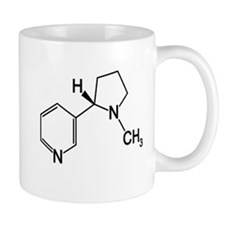 Nicotine Chemistry funny geek design light Mugs