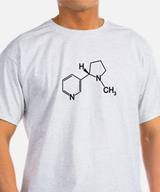 Nicotine Chemistry funny geek design T-Shirt