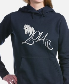 2014 Chinese Symbol Year of the Horse White Hooded