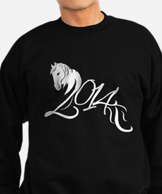 2014 Chinese Symbol Year of the Horse White Sweats