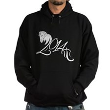 2014 Chinese Symbol Year of the Horse White Hoodie