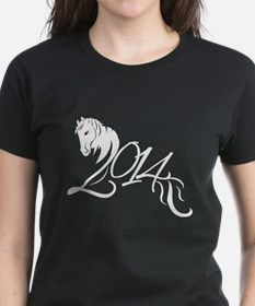 2014 Chinese Symbol Year of the Horse White T-Shir