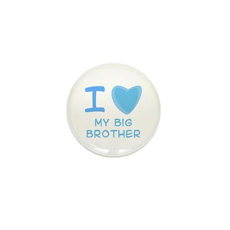 Blue I Heart (Love) My Big Brother Mini Button (10