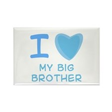 Blue I Heart (Love) My Big Brother Rectangle Magne