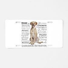 Labrador Traits Aluminum License Plate