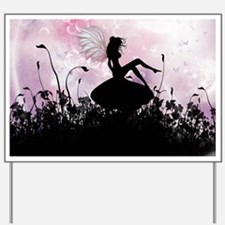 Fairy Silhouette Yard Sign