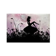 Fairy Silhouette Rectangle Magnet