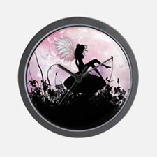 Fairy Silhouette Wall Clock