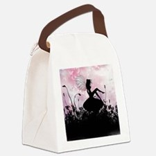 Fairy Silhouette Canvas Lunch Bag