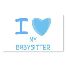 Blue I Heart (Love) My Babysitter Decal