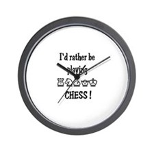 Rather Play Chess Wall Clock