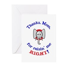 Thanks Mom - Republican Greeting Cards (Package of