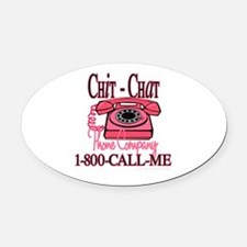 New chitchatphonecompany copy.jpg Oval Car Magnet