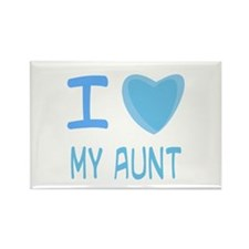 Blue I Heart (Love) My Aunt Rectangle Magnet