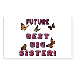 Future Best Big Sister! Rectangle Decal