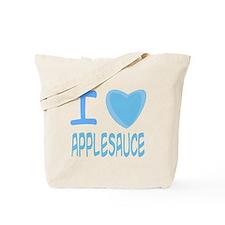 Blue I Heart (Love) Applesauce Tote Bag