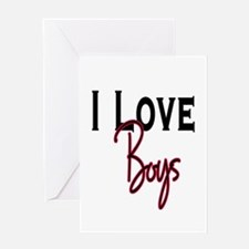 10x10_apparel loveboysblack.png Greeting Card