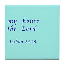 Joshua 24:15 Tile Coaster (Right)
