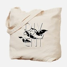 Divergent Black and White Tote Bag