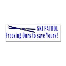 Ski Patrol white Car Magnet 10 x 3