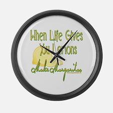 MAKEMARGARITASupdated copy.png Large Wall Clock