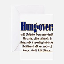 10x10_apparel hungover copy.png Greeting Card
