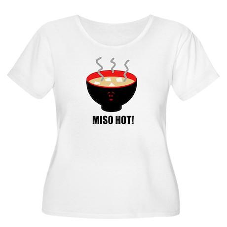 Miso Hot Women's Plus Size Scoop Neck T-Shirt