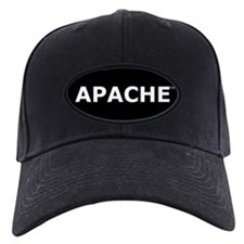 Apache Baseball Cap (black patch, white lettering)