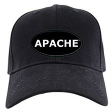 Apache Baseball Hat (black patch, white lettering)