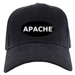 Apache Black Cap (black patch, white lettering)