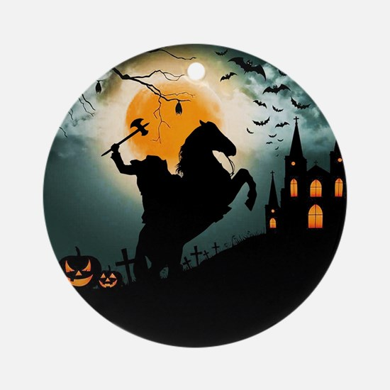 Headless Horseman Round Ornament