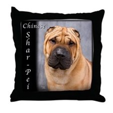 Chinese Shar-Pei Throw Pillow