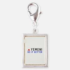 Yemeni It Better Designs Silver Portrait Charm