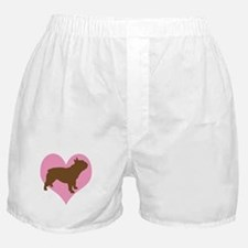 french bulldog & heart Boxer Shorts