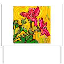 10x10_apparel floral bright copy.jpg Yard Sign