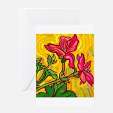 10x10_apparel floral bright copy.jpg Greeting Card