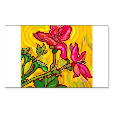 10x10_apparel floral bright copy.jpg Sticker (Rect