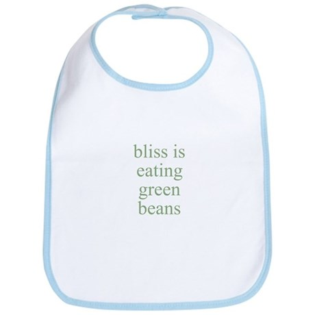 bliss is eating green beans Bib
