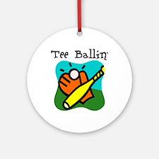Tee Ballin Ornament (Round)